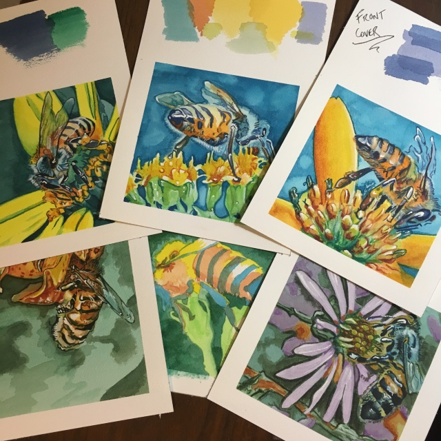 Watercolor art for upcoming children's educational picture book